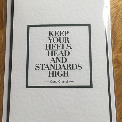 High Standards Card