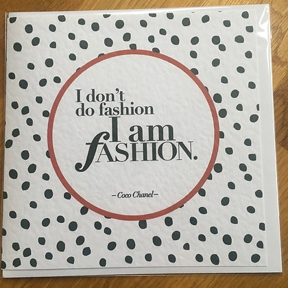 I Am Fashion Card