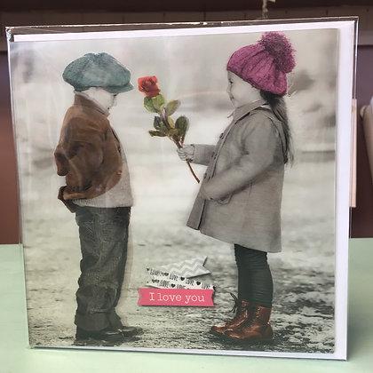 I love you - 3D Sentiment Card