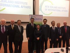 Hosting the ambassadors of the US, China, Japan and South Korea at a panel on North Korea