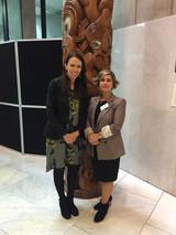 NZ Prime Minisiter Jacinda Ardern and Maty Nikkhou-O'Brien