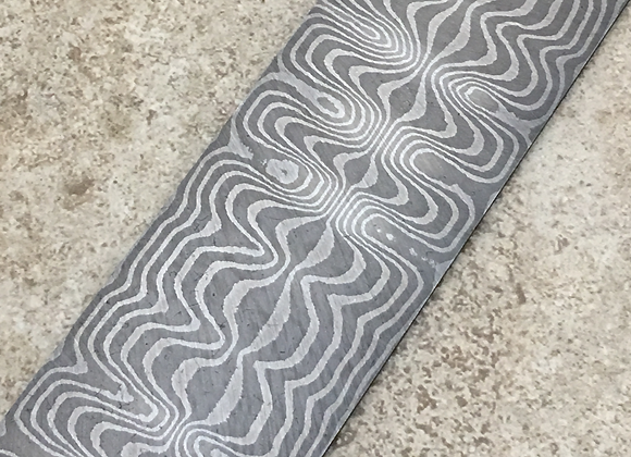 "Treaded Ladder Carbon Damascus .150"" x 2.25"" x 17"""