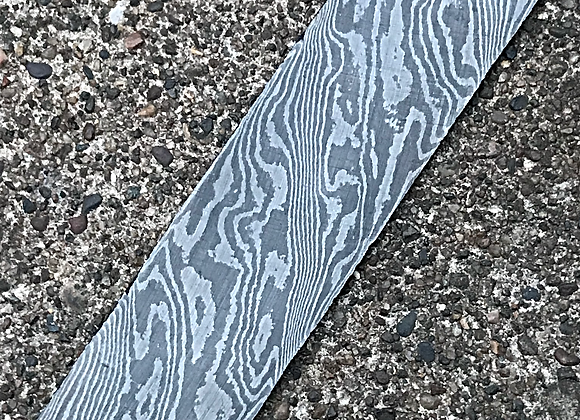 "Tiger Twist Carbon Damascus .125"" x 1.5"" x 8.75"""