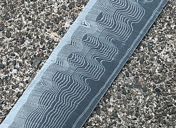 "Custom Core High Contrast Carbon Damascus .094"" x 2.125"" x 11.25"""