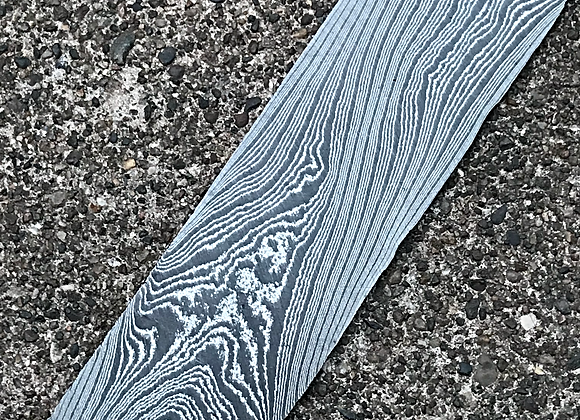 "Tiger Twist High Contrast Carbon Damascus .125"" x 2"" x 12"""