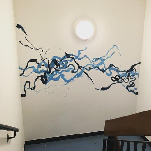 stair mural full view