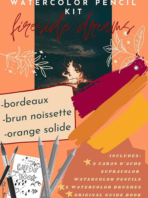 fireside dreams (watercolor pencil kit)