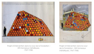 Installation plans by Christo