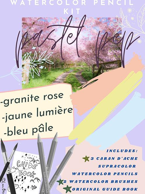 pastel pep (watercolor pencil kit)
