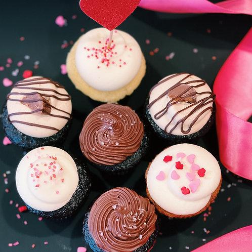 Box of Dozen Valentine Cupcakes