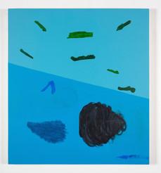 Distracteurs de couleurs (Dessin 2), 42x38 po, acrylique sur canevas, 2020, Non disponible