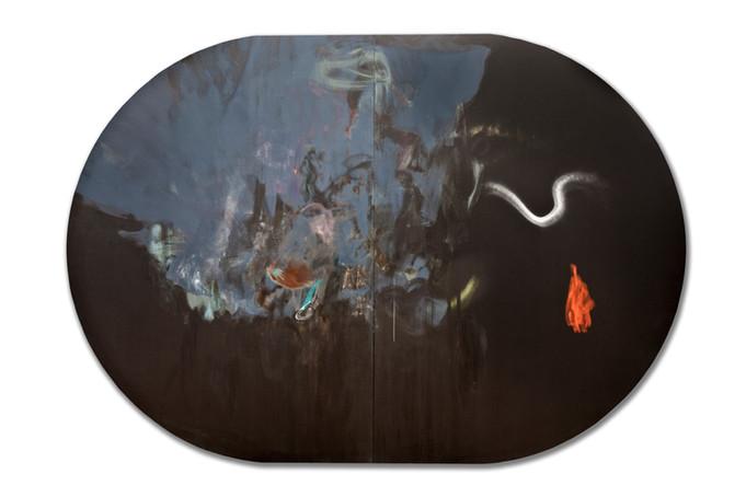 Superstes 3, acrylique sur canevas, 2009