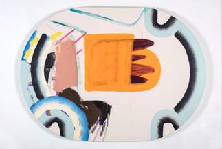 Parades et ripostes II, acrylique sur canevas, 2017