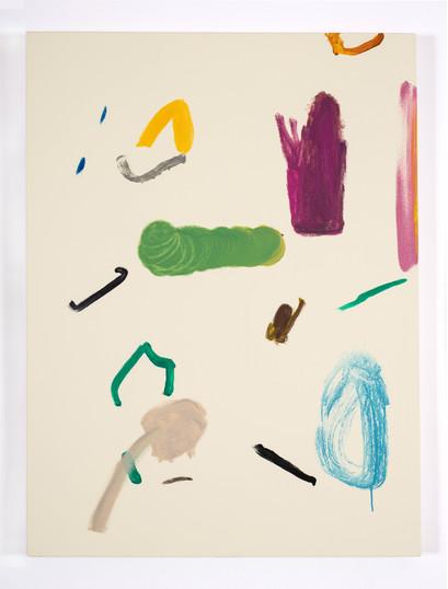 Distracteurs de couleurs ( Dessin 10) 40x30 po, acrylique sur canevas, 2020