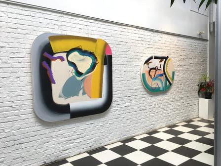 Vue de l'exposition Études pour coups fumants, Centre Elgar, Verdun, 2017