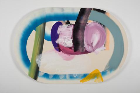 Assemblage 7, 81x122 cm, acrylique sur canevas, 2018