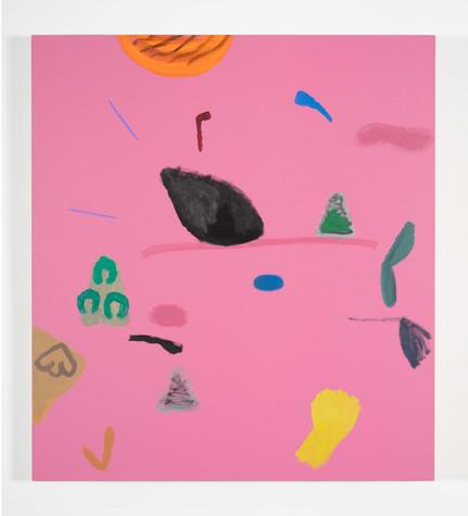 Distracteurs de couleurs, ( Dessin 9 ) acrylique sur canevas, 42x38 po, 2020, Non disponible