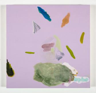 Distracteurs de couleurs ( Dessin 1) 24x24 po, acrylique sur canevas, 2020