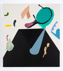 Distracteurs de couleurs ( Dessin 8 ) 42x38 po, acrylique sur canevas, 2020