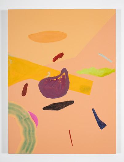Distracteurs de couleurs (Dessin 7) 40x30, acrylique sur canevas, 2020