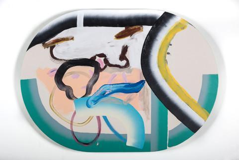 Assemblage 6, acrylique sur canevas, 2017
