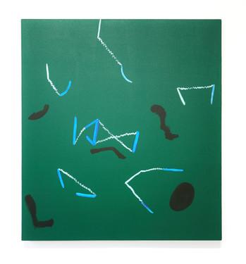 Distanciation, 107x96.5 cm, acrylique su
