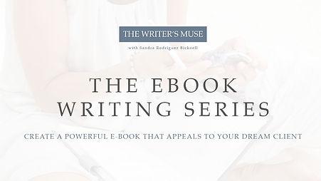 The eBook Writing Series