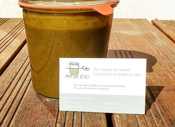 Soupe d'Epinards + Consigne Bocal