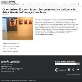 Pinacoteca de São Caetano São Caetano do Sul.  Abril de 2018.