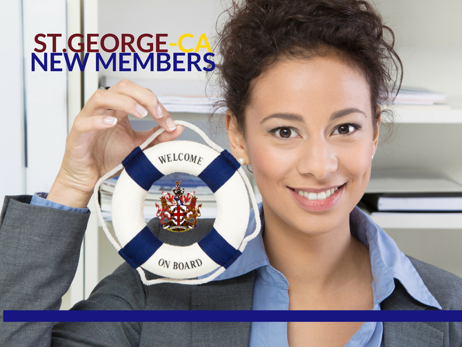 Welcome New Members: Royal Society Of Saint George- CA