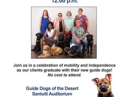 Guide Dogs of The Desert presentation Ceremony
