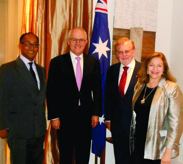 Prince Ermias Was Part of The Commemorative Tour of Australia