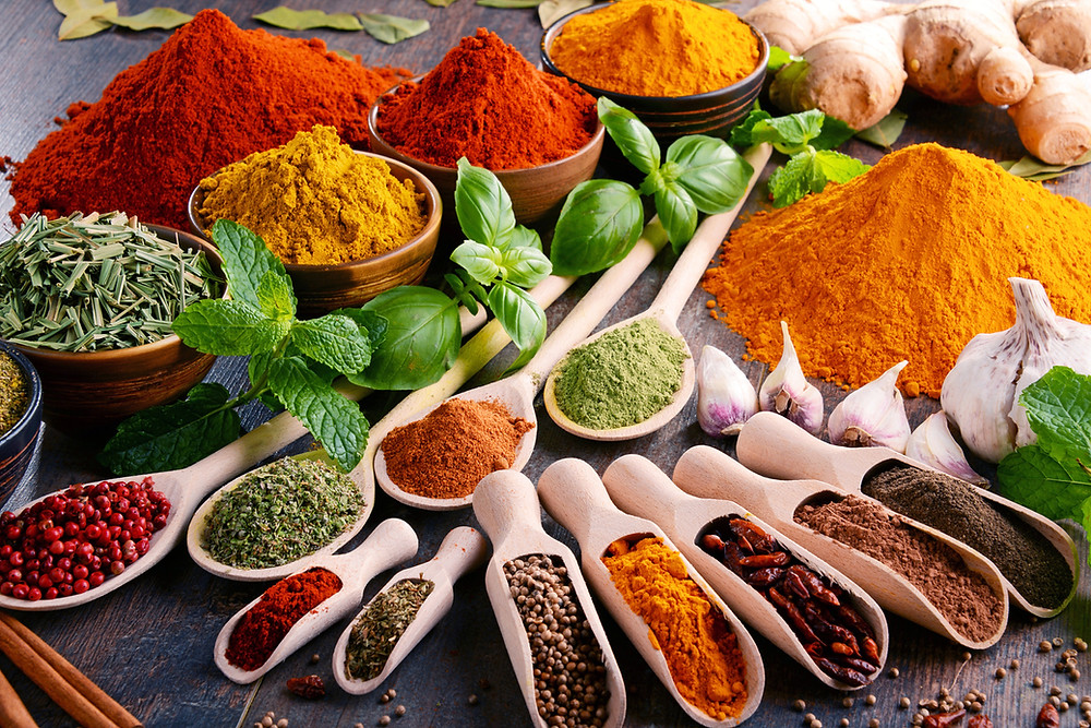 colorful flavorful spices, spices and health