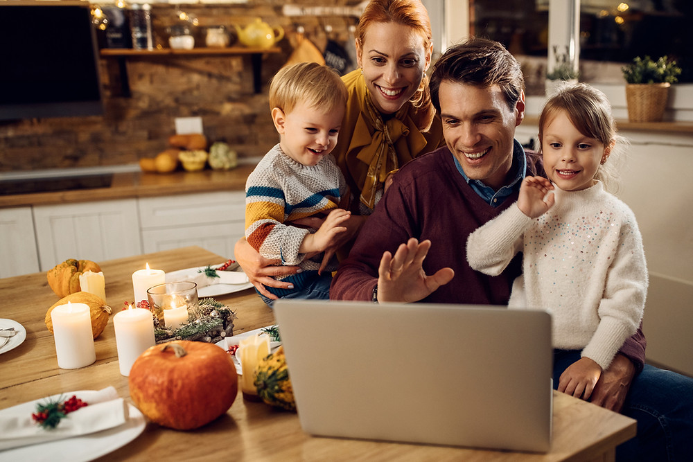 Virtual Thanksgiving dinner, healthy and safe Thanksgiving