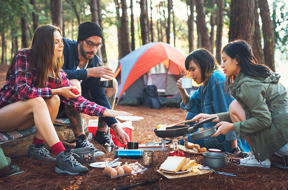 cooking while camping, camping meal ideas