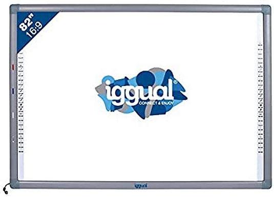 """iggual IGG314388 82"""" Touch screen USB Grigio, Bianco lavagna interattiva"""