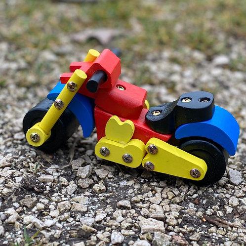 Moto in Legno colorato scomponibile (Creativo)