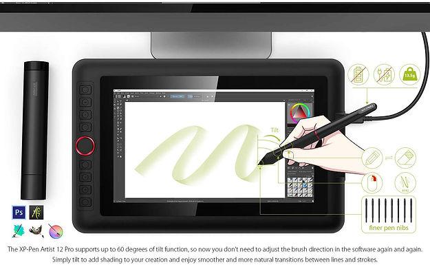 XP-PEN Tavoletta Grafica con Schermo Artist 12 PRO