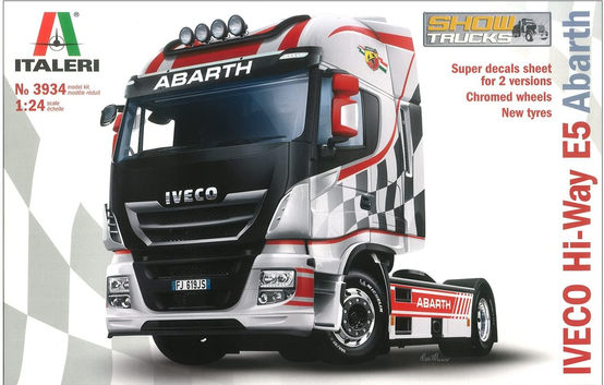 Italeri 3934 Iveco Hi-Way E5 Abarth Model Kit camion show plastica Scala 1:24