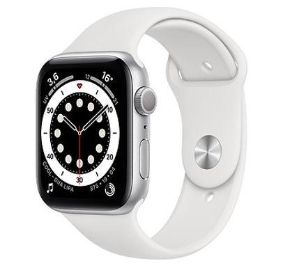Apple Watch Cassa in alluminio color argento con Cinturino Sport