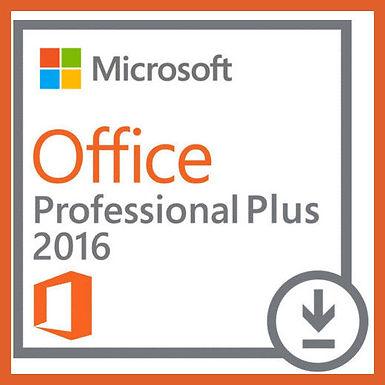 Microsoft Office 2016 Professional Plus Pro 32/64 bit 1 PC