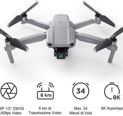 DJI Mavic Air 2 Drone Quadcopter UAV con Telecamera 48MP 4K