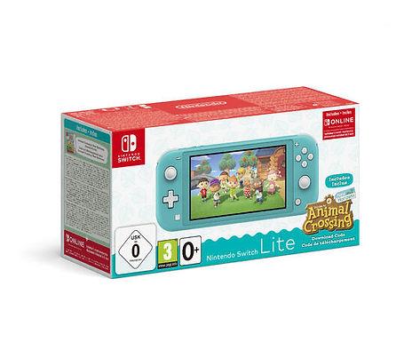 Nintendo Switch Lite Turchese + Animal Crossing New Horizons + Switch Online 3M