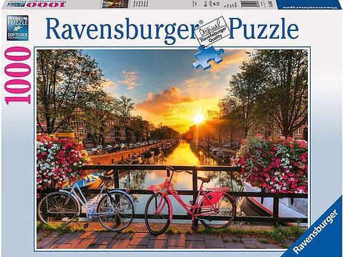 Ravensburger 19606, Puzzle 1000 Pezzi, Biciclette ad Amsterdam