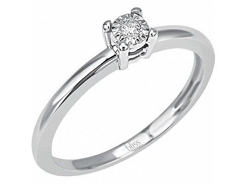 Solitario con diamante rugiada misura 13