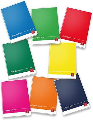 Pigna Colours Quaderno formato A4, Rigatura 0A, Carta 80g/mq, Pacco da 10 Pezzi
