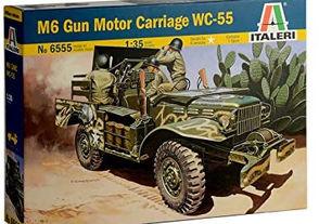 Italeri 6555 M6 Gun Motor Carriage WC-55 Model kit veicoli militari Scala 1:35