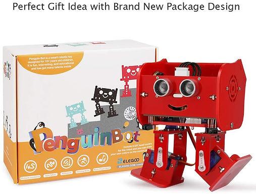 Elegoo Penguin Bot Biped Robot Kit per Progetto Arduino con Tutorial Montaggio