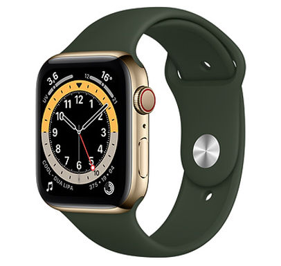 Apple Watch Cassa in acciaio inossidabile color oro con Cinturino Sport