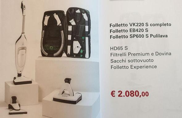 Folletto VK220 S completo + EB420S + SP600S